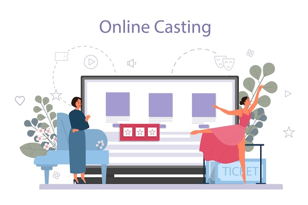 Nauczyciel lub choreograf tańca w serwisie internetowym studia tańca