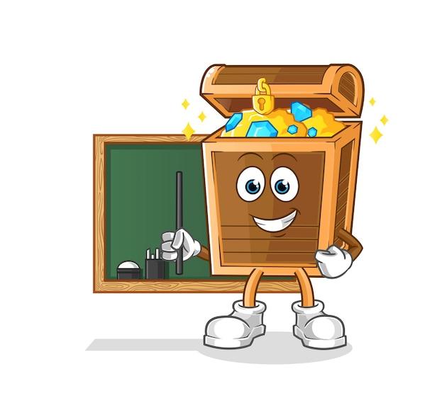 Nauczyciel skarbów. postać z kreskówki