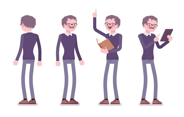 Nauczyciel stojący