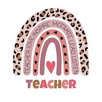 Nauczyciel tęczowa szkoła życie nauczyciela