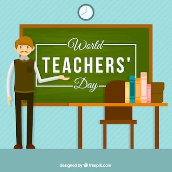 Nauczyciel w klasie, świat nauczyciel