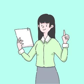 Nauczyciel z folderem