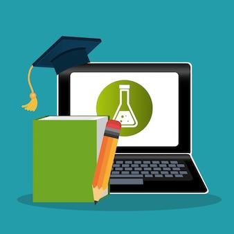 Nauka elektroniczna z laptopem