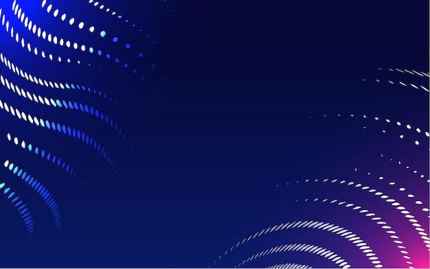 Nauka i technologia cząstek roczny plakat materiał streszczenie futurystyczne linie