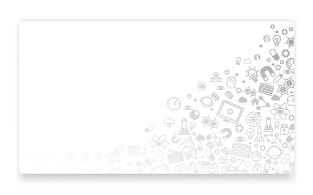 Nauka i technologia, tło ikony, koncepcja strony docelowej. ilustracja wektorowa