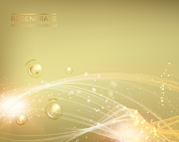 Nauka ilustracja cząsteczki kosmetycznej