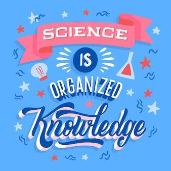 Nauka jest zorganizowanym literowaniem wiedzy
