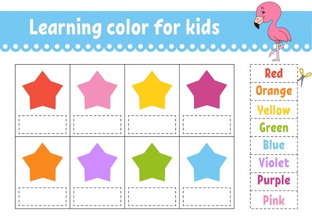 Nauka koloru dla dzieci.