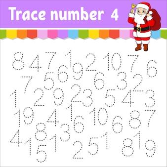 Nauka liczb dla ilustracji dla dzieci