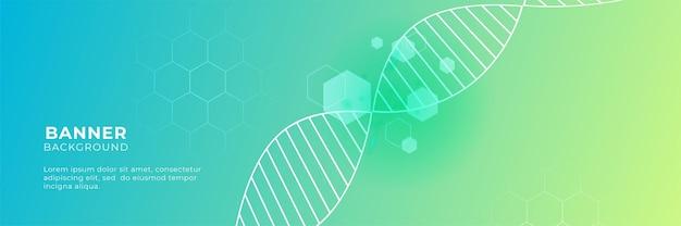 Nauka medyczna i opieka zdrowotna projekt transparentu w kolorze niebieskim zielonym żółtym i gradientowym