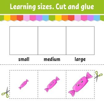 Nauka rozmiarów cięcie i klejenie łatwy poziom