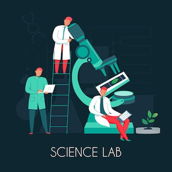 Nauka skład mikroskopu z ilustracją mikroskopu