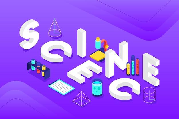 Nauki słowa pojęcie w isometric