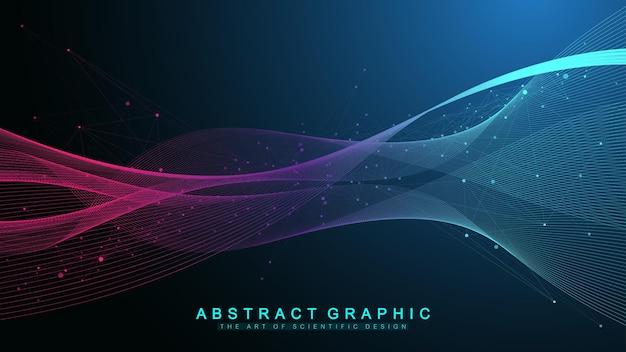 Naukowa ilustracja wektorowa inżynierii genetycznej i koncepcja manipulacji genami. helisa dna, nić dna, cząsteczka lub atom, neurony. abstrakcyjna struktura dla nauki lub wykształcenie medyczne. crispr cas9.