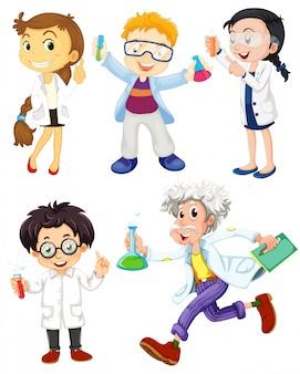 Naukowcy i lekarze na białym