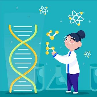 Naukowcy posiadający cząsteczki dna