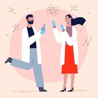 Naukowcy pracujący razem nad szczepionką przeciwko koronawirusowi