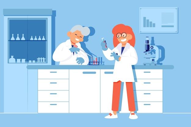 Naukowcy pracujący w laboratorium naukowym