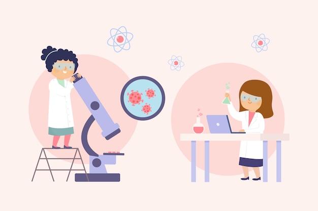 Naukowcy pracujący