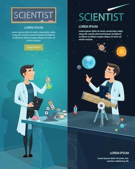 Naukowe banery pionowe