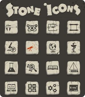 Naukowe ikony internetowe do projektowania interfejsu użytkownika