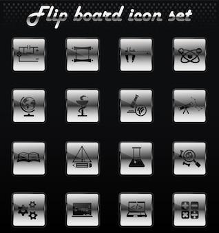 Naukowe wektorowe ikony mechaniczne do projektowania interfejsu użytkownika