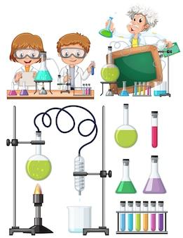 Naukowiec bada w laboratorium