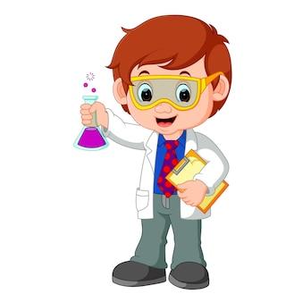 Naukowiec lub profesor gospodarstwa kolby