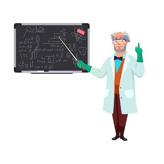 Naukowiec w okularach ochronnych