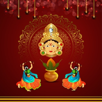Navratri dandiya dance night pose