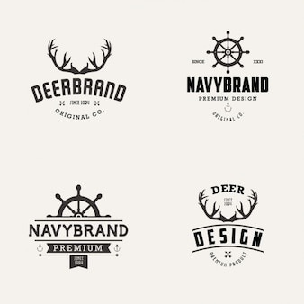 Navy i marka jeleni kolekcji