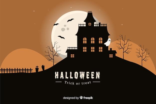 Nawiedzony dom halloween tło