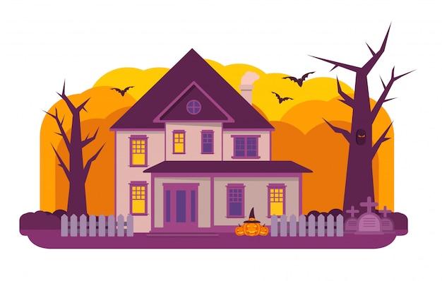 Nawiedzony dom halloween.