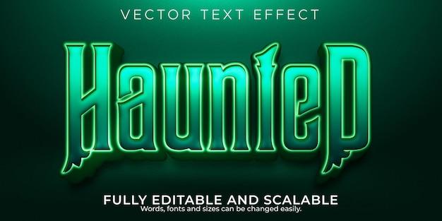 Nawiedzony edytowalny efekt tekstowy, martwy i przerażający styl tekstu