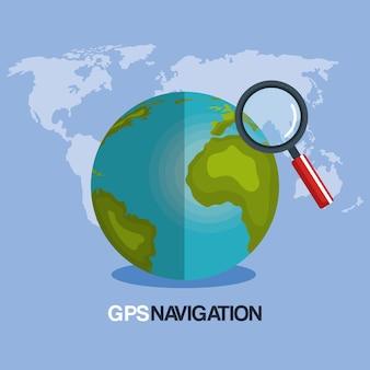 Nawigacja gps na światowej planecie