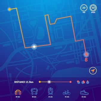 Nawigacja na mapie miasta