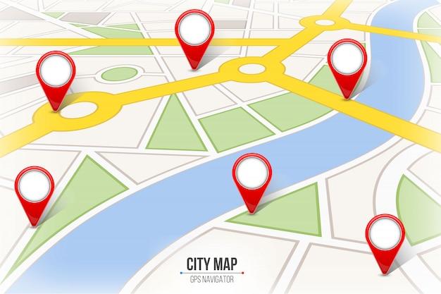Nawigacja plansza ulicy miasta mapę mapę.