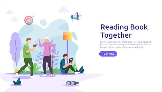 Nawyk czytania książek. spędzać czas w domu podczas koncepcji kwarantanny.