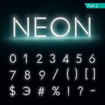 Neon alfabet świecące czcionki.