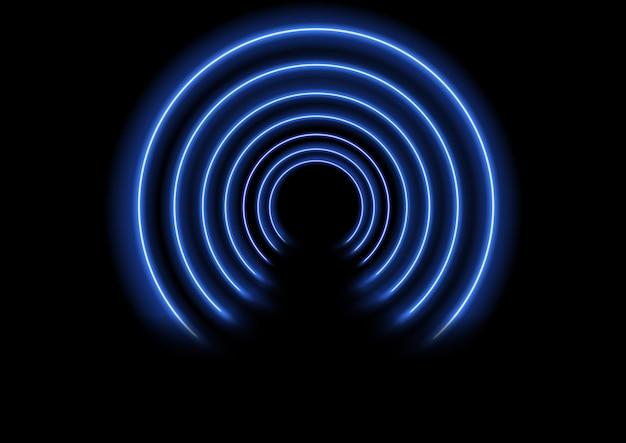 Neon efekt tunelu tło