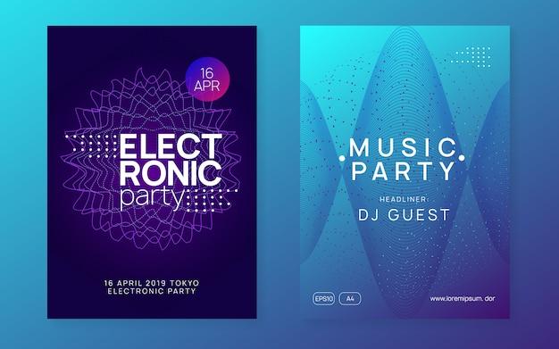 Neon electronic fest neonowa ulotka.
