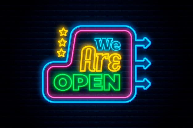 Neon jesteśmy otwartym znakiem
