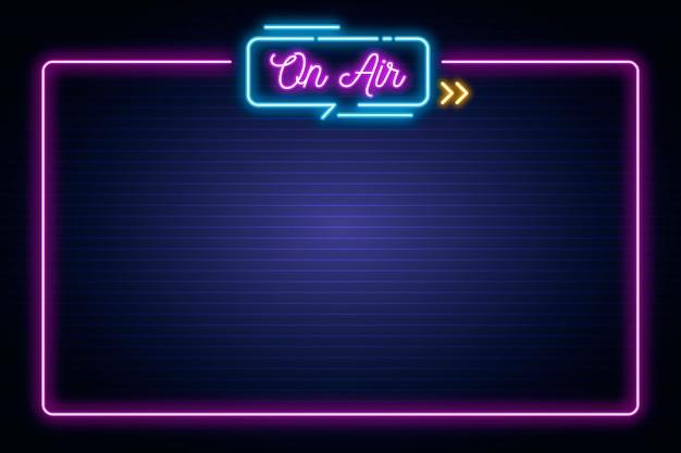 Neon na ramie powietrza