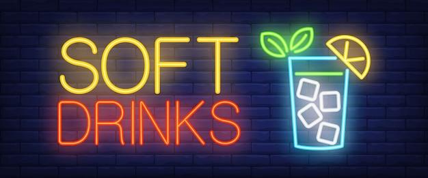 Neon napojów bezalkoholowych znak