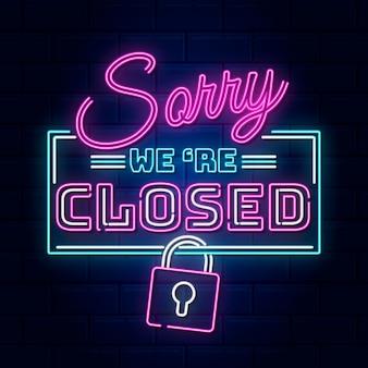 Neon przepraszam, mamy zamknięty znak