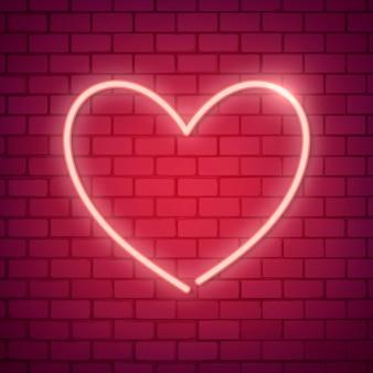 Neon serca ilustracji