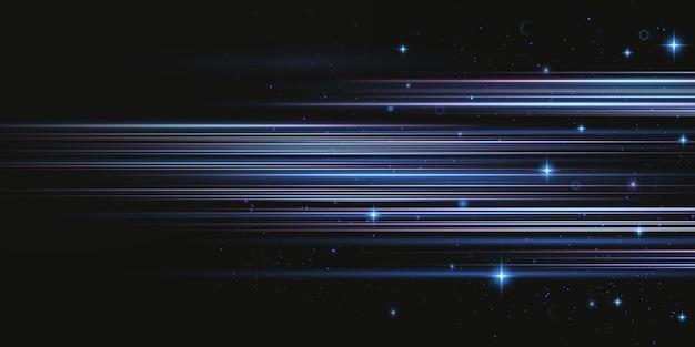 Neon streszczenie tło światło. świecące pionowe promienie świetlne.