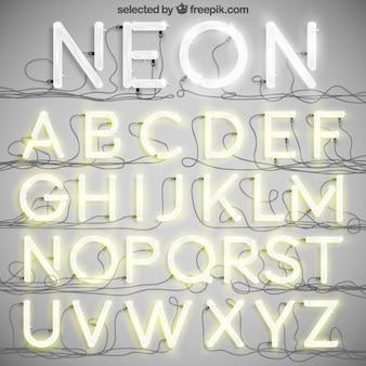 Neon typografia