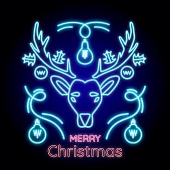 Neon wesołych świąt