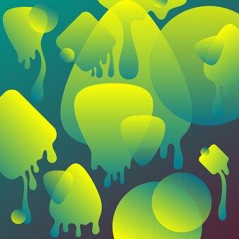 Neon zielony płyn abstrakcyjne tło gradientowe.
